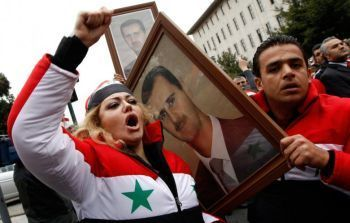 Assad supporters