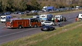crash scene I5 October 17th 2010 between Brooks and Woodburn