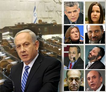Israel elections collage