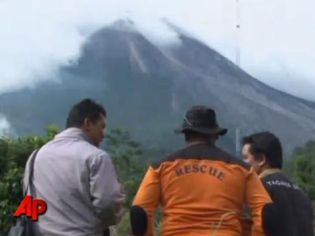 Frame from an AP video shows Indonesia's Mount Merapi