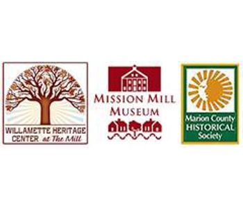 Willamette Heritage Center at the Mill - Mission Mill Museum - Marion County Historical Society logos