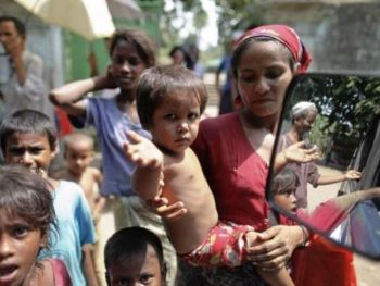 Rohingya people are stateless according to the national rules of United States 'ally' Myanmar, where a Genocide is underway
