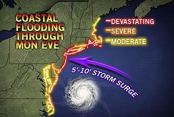 Weather map from Sandy