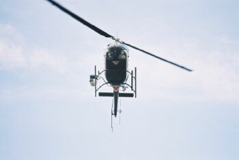 OH-58 Helicopter like those used by Oregon`s Air Guard