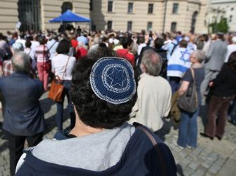 Around 500 mainly Jewish but some Christian and Muslim protesters gathered in Berlin Sunday to demand the right to circumcision