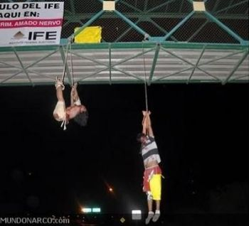 Bodies hanging from bridge in Mexico