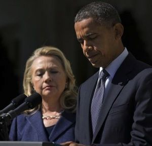 Secretary of State Clinton and President Obama