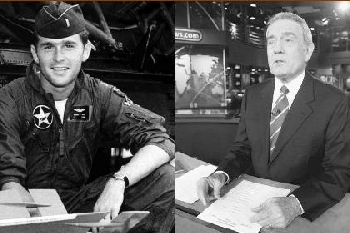 George W. Bush and Dan Rather