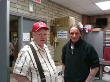 Tim King visiting Veterans at the VFW hall in Springfield, Missouri.