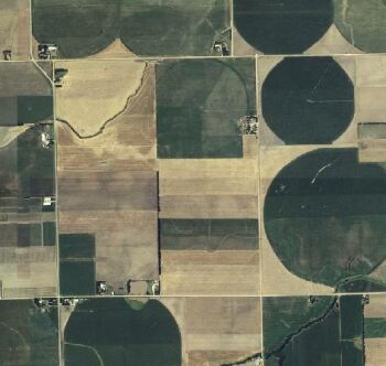 Oregon farm field from the air