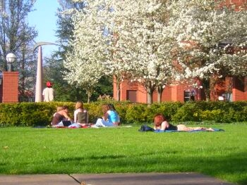 Western Oregon University students by Bonnie King