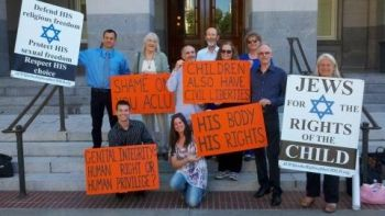 Bay Area intactivists in Sacramento 'Jews for the Rights of the Child'